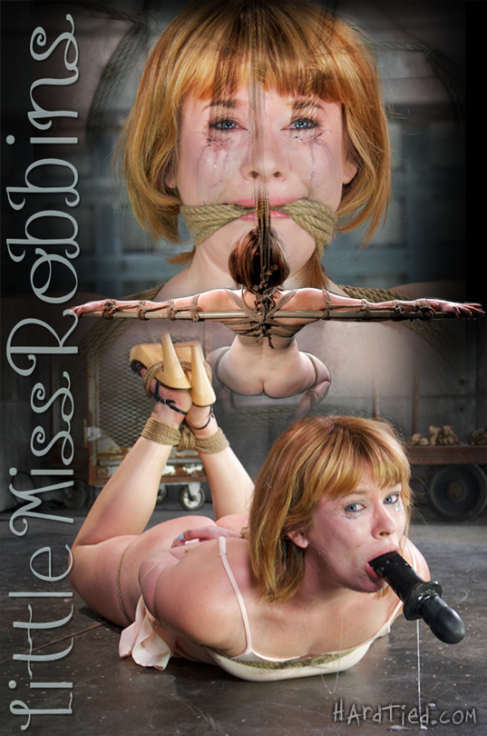 Petite Model Claire Robbins Loves Rough Rope Bondage