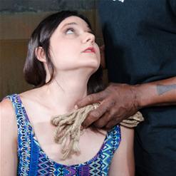 Amy Faye looks longingly at Jack Hammer anticipating rope