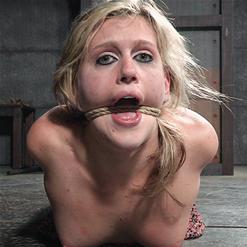 Sasha Heart hands tied behind back rope bondage