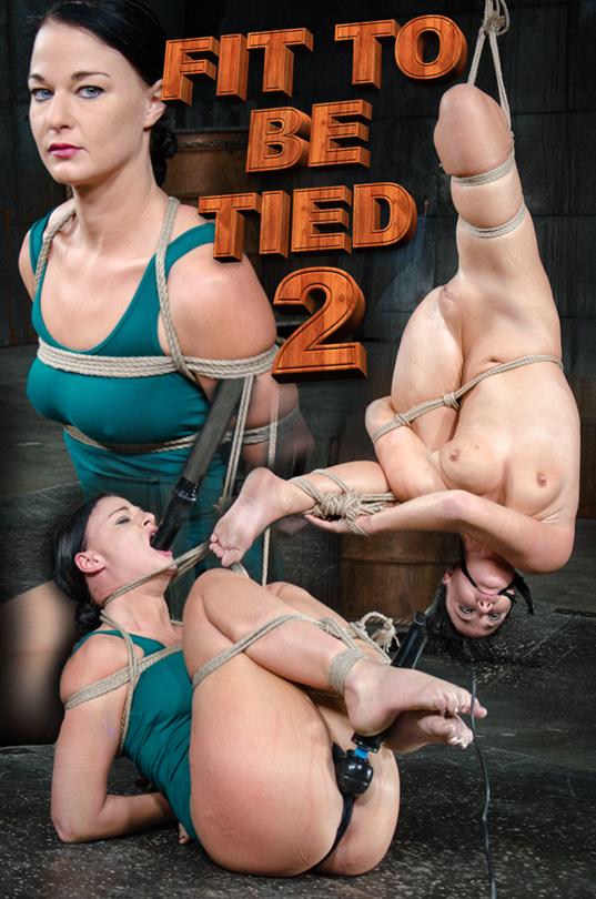 London River's tits on display in rope bondage