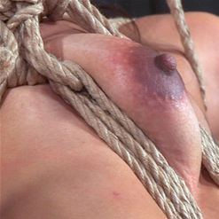 Chillycarlita with chest harness, rope bondage
