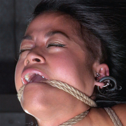 Chillycarlita bent back by hair pulling in suspension