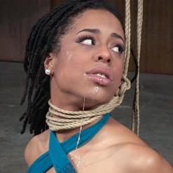 Kira Noir in arm binder rope bondage fucked by Jack Hammer