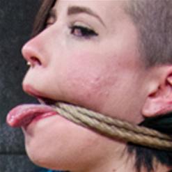 Freya French feet tied to Mr. Pogo rope bondage