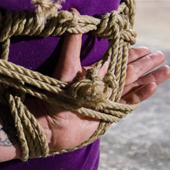 Freya French captured by Jack Hammer for rope BDSM
