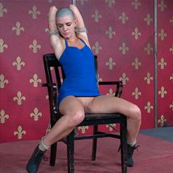 Abigail Dupree legs spread pussy crotch rope extreme bondage