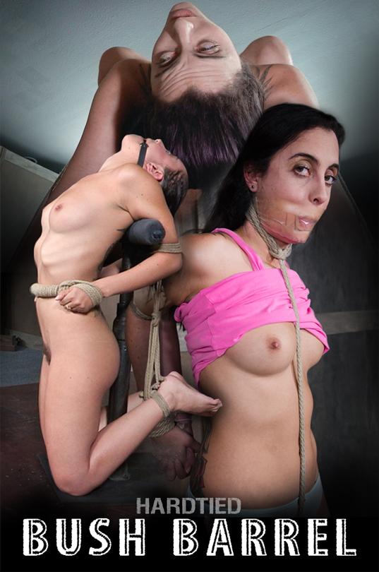 Hardtied.com presents Roxanne Rae in barrel rope bondage