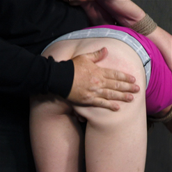 Katy Kiss gets skirt pulled up and ass spanked