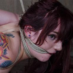 Ariel Blue bent over showing her ass