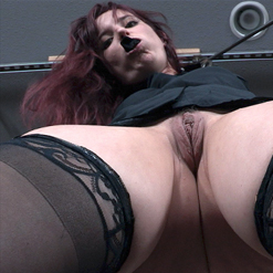 Ariel Blue is dazed and gagged