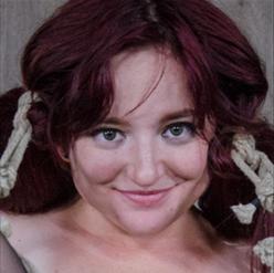 Ariel Blue struggles against rope gag