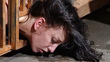 Infernal Restraints Bondage Model Elise Graves in Metal Cage Device Bondage