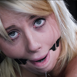 Cindy Lou ball gagged and drooling