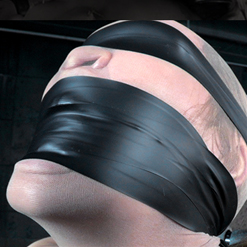 Rain DeGrey Strapped Down Blindfolded on Sybian
