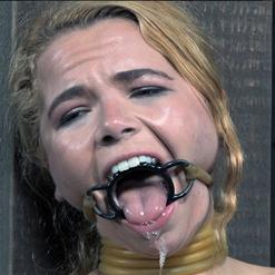 Alina West vet wrap face mask blindfold and gag