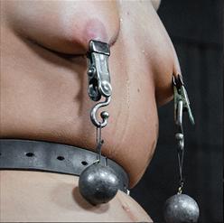 Alina West on metal bondage swing ass hook and dildo