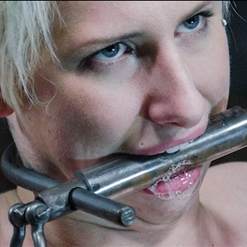 Dylan Phoenix rag gagged slapped in face with dildo