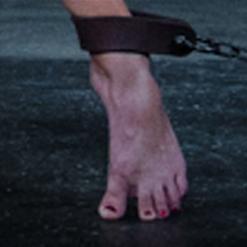 Penny Barber foot on small platform
