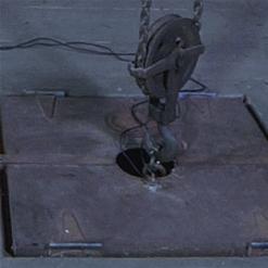 London River upside down suspension, strappado