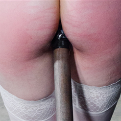 Freya French ass presented for brutal caning punishment