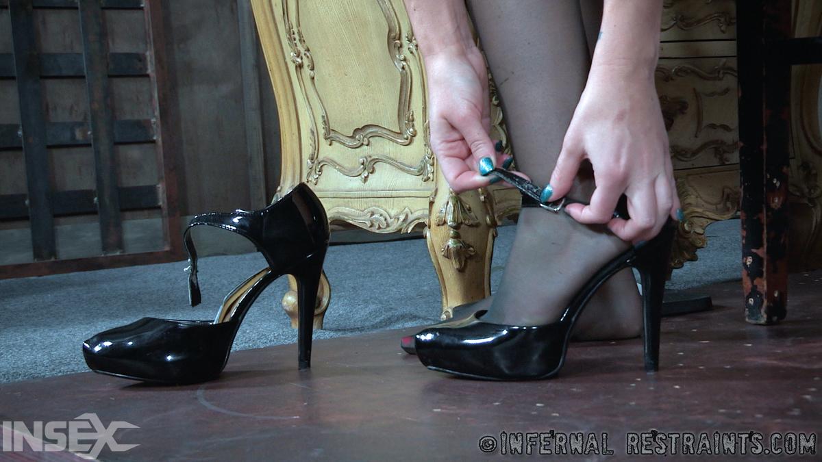 Threesome Lingerie High Heels