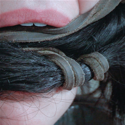 Charlotte Sartre gagged with her own hair