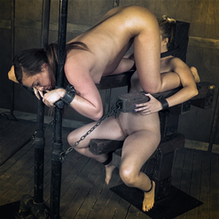 Caning with a strap on
