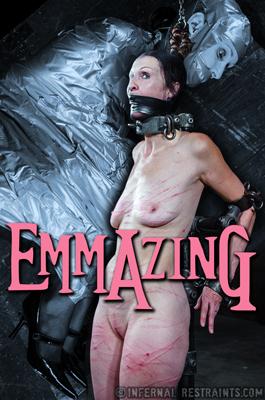 Emma in duct tape bondage gag
