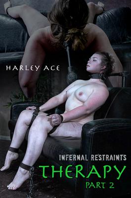 Harley Ace in metal collar bondage