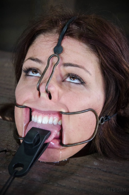 Ring gag face fuck