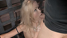 Blonde Simone Sonay gets her face fucked hard