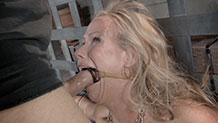 Destroyed MILF Simone Sonay does brutal deepthroat on dick