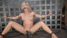 Simone Sonay is bound and gagged while vibrated