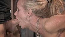 MILF Simone Sonay does epic deepthroat on big hard dick