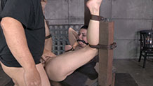 Bound and gagged Veruca James is fucked hard