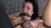 Bound and gagged brunette Veruca James fucked hard