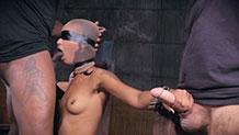 Skin Diamond AVN winner Sexuallybroken bondage deepthroat