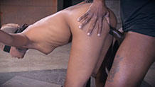 Sexuallybroken Skin Diamond bondage and rough BBC fucking