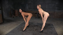 Kay Kardia and London river show off sexy asses in heels
