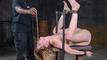 Kay Kardia tormented in metal bondage