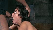 Messy bondage deepthroat Mia Austin Realtimebondage