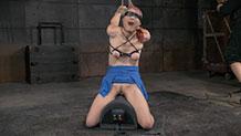 Pale Violet Monroe Sexuallybroken sybian bondage