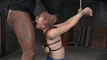 Strappado bound Violet Monroe Sexuallybroken deepthroat
