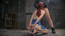 BBC roughly fucks Violet Monroe in metal bondage