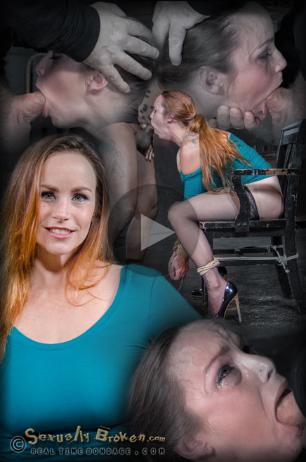 Busty Bella Rossi in bondage with deepthroat and rough sex