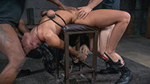 Bound and blindfolded London River deepthroating BBC