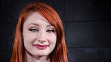Sexy redhead Violet Monroe ready for bondage