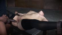 Girl next door Endza deepthroats hard cock upside down