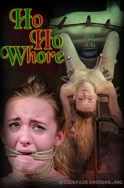 Jessica Kay rope bondage, flogged ass, breast