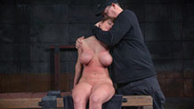 Rain DeGrey strap on fucks Darling in the ass